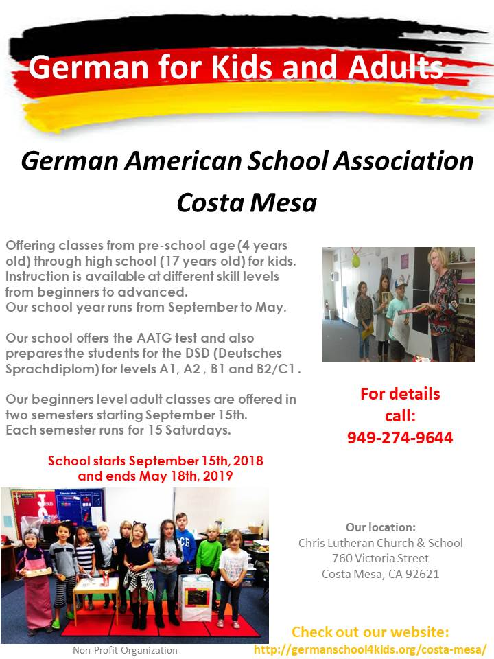Costa Mesa School | German American School Association